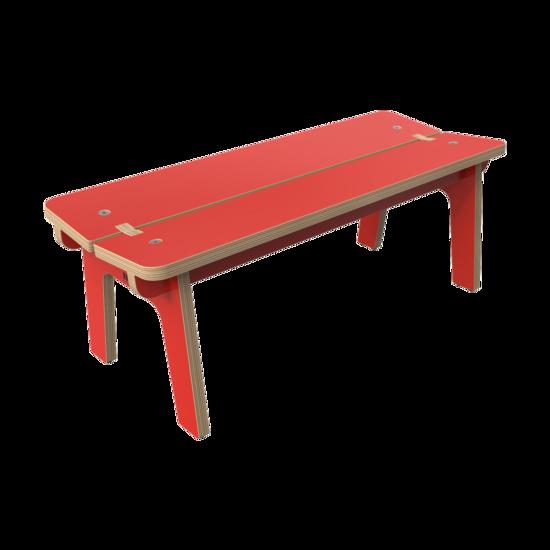 Duurzame rode houten kindermeubels voor kinderhoek