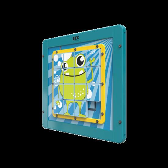 kinderen leren probleemoplossend te denken met deze houten schuifpuzzel| IKC wandspellen muurspellen