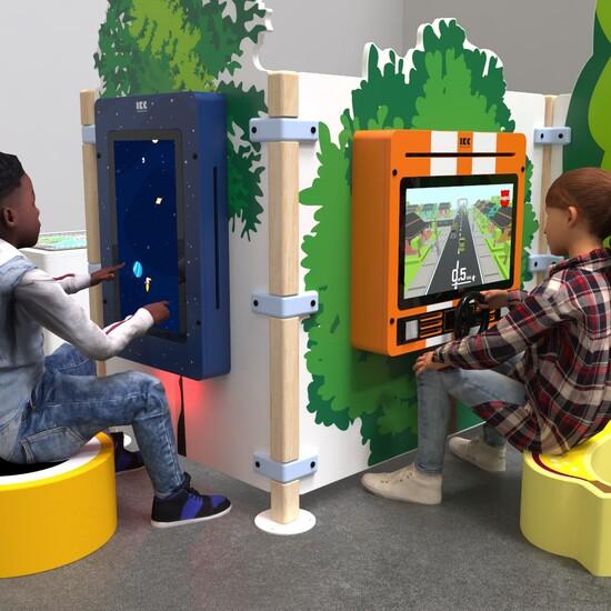 Speelsysteem als complete inrichting voor een speelhoek voor kinderen