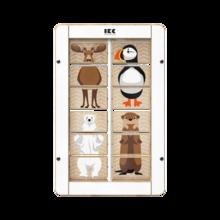 dieren mixen en matchen door de blokjes om te draaien | IKC wandspellen muurspellen